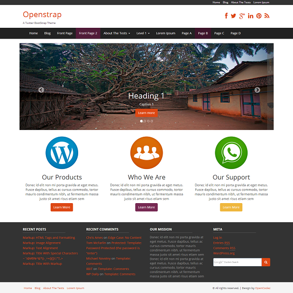 Openstrap - Responsive Wordpress Theme