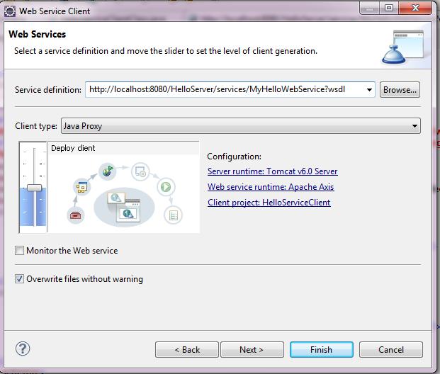 Web Service Client - Configuration