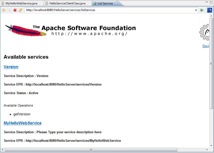 Web Services - List