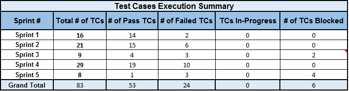 Test Execution Summary