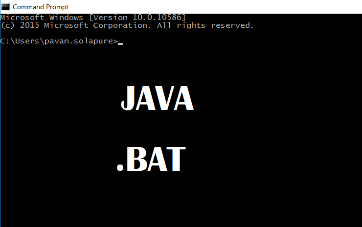 How to execute batch ( bat) file from Java - opencodez