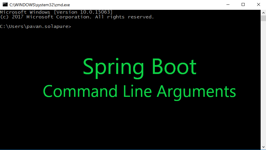 Passing Command Line Arguments in Java - Spring Boot Example