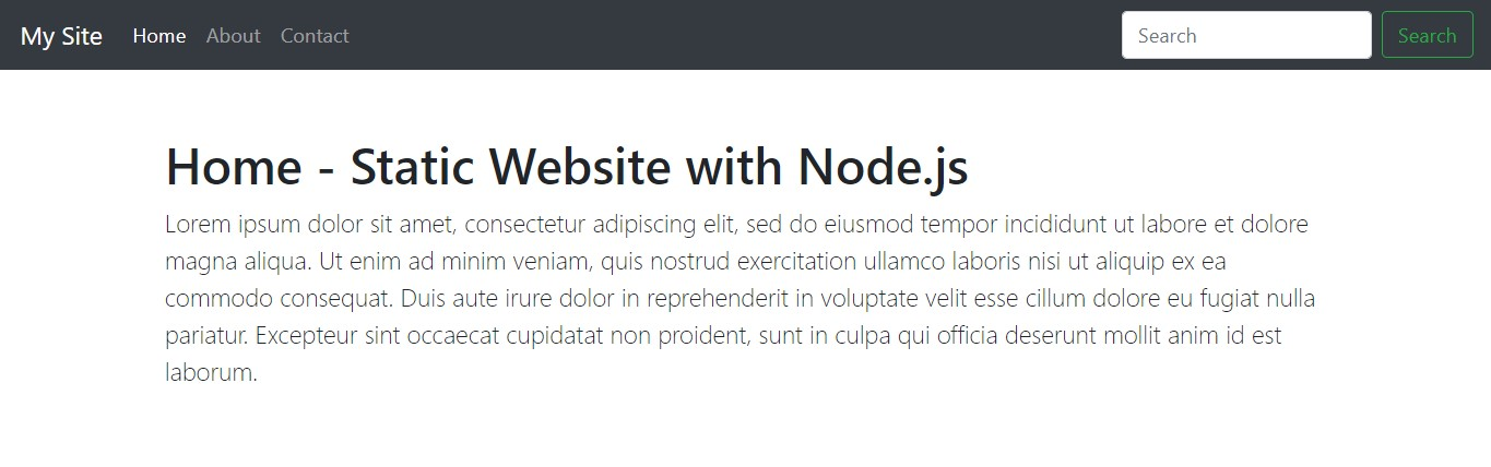 Simple and Easy method to host Node js Webserver for static